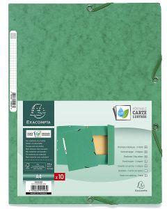 <h2>Mappe perm med elstistk strikk Exacompta 55503E Grønn</h2> <p>Mappe perm med elstistk strikk Exacompta 55503E Portfolio File Manila Cardboard Elasticated, 3 Dividers, 400 g, DIN A4 (Green)</p>