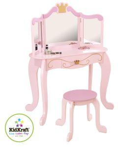 KidKraft - Prinsesse Sminkebord med Krakk