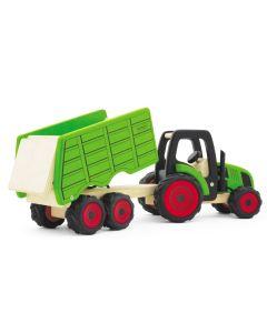 Traktor med høy henger