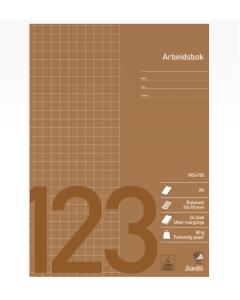 Arbeidsbok, Skolehefte og skrivebok Bantex, ruter A4 10x10mm 24blad