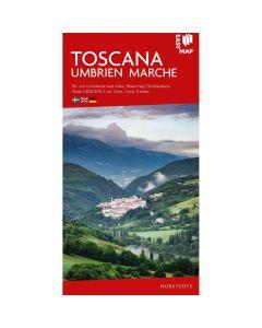 Landskart og bilkart Toscana Umbrien Marche EasyMap