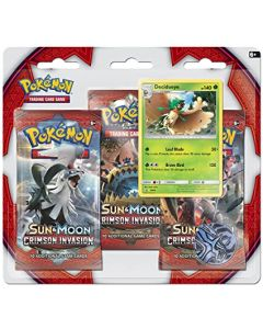 Pokémon TCG Crimson Invasion 3-pack Blister Decidueye