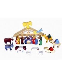 SRI Toys Trelekesett Jesu Fødsel Med Stall