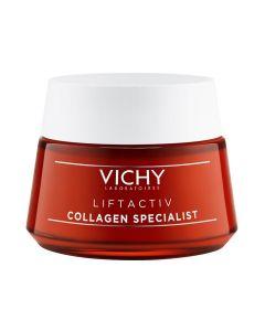 Vichy Liftactiv Collagen Specialist dagkrem 50ml    Dagkremen Vichy Liftactiv Collagen Specialist er en avansert anti-age krem som reduserer rynker, pigmentforandringer og booster cellefornyelsen. Tilpasset normal/blandet og sensitiv hud.